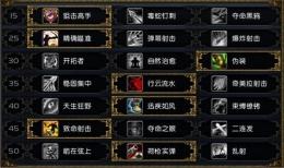 魔兽世界9.05射击猎人天赋选择推荐