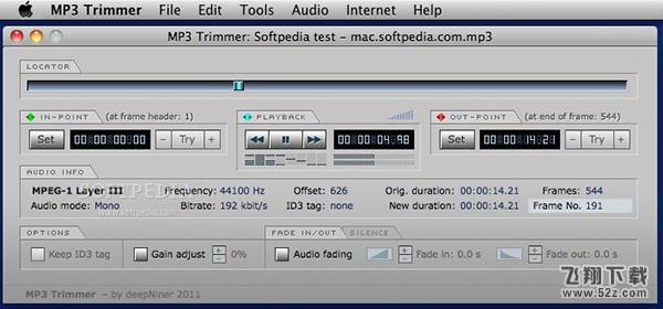MP3 Trimmer Mac版V3.1 官方版_52z.com