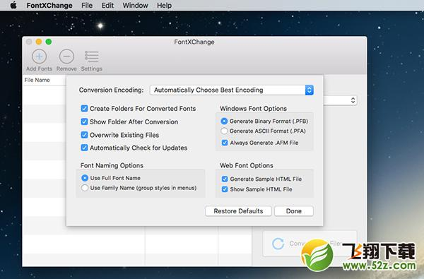 FontXChange Mac版V5.1 官方版_52z.com