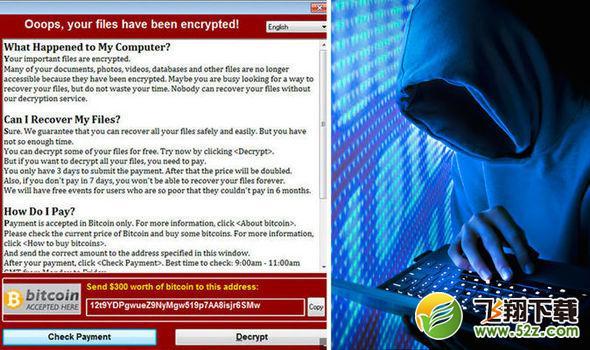 勒索病毒2.0变种来袭:每小时可感染3600台电脑_52z.com