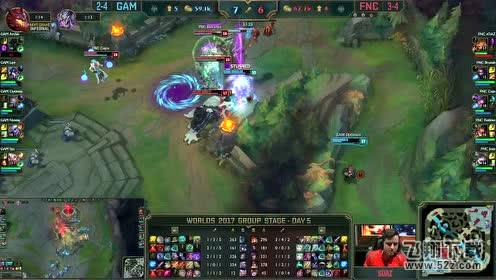 LOLS7全球总决赛小组赛加赛GAM vs FNC视频回顾 GAM vs FNC10.12加赛视频