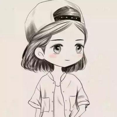 可爱萌萌哒素描头像女生卡通2018 道理谁都懂谁也做不到