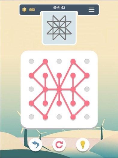 点线交织第63关怎么过_点线交织经典模式第63关通关攻略