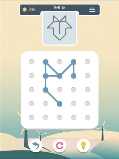 点线交织第64关怎么过_点线交织经典模式第64关通关攻略