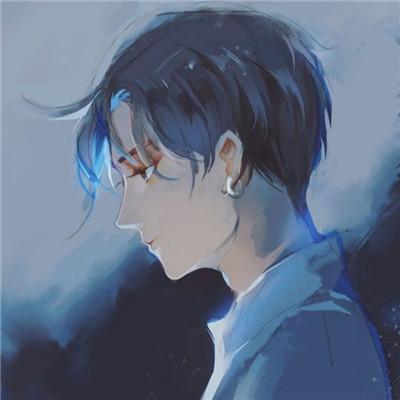 好看男生素描头像彩色高清图 个性帅气的素描男生头像图精选