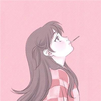 超甜卡通情侣头像粉红少女心 二次元动漫可爱少女心粉色系情侣头像