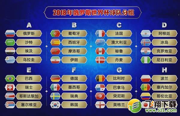 2018俄罗斯世界杯赛程安排 2018世界杯赛程时间表一览 飞翔教程