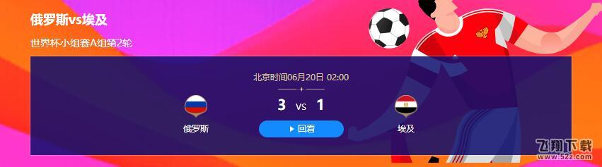 2018世界杯俄罗斯vs埃及比分多少_2018世界杯俄罗斯vs埃及比分结果及视频