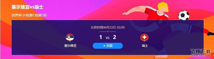 2018世界杯塞尔维亚vs瑞士比赛视频完整版_6.23世界杯塞尔维亚vs瑞士直播视频