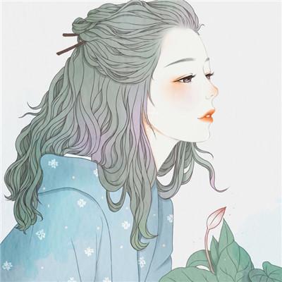 微信手绘头像女生简约气质 微信头像女生气质唯美卡通精选图片