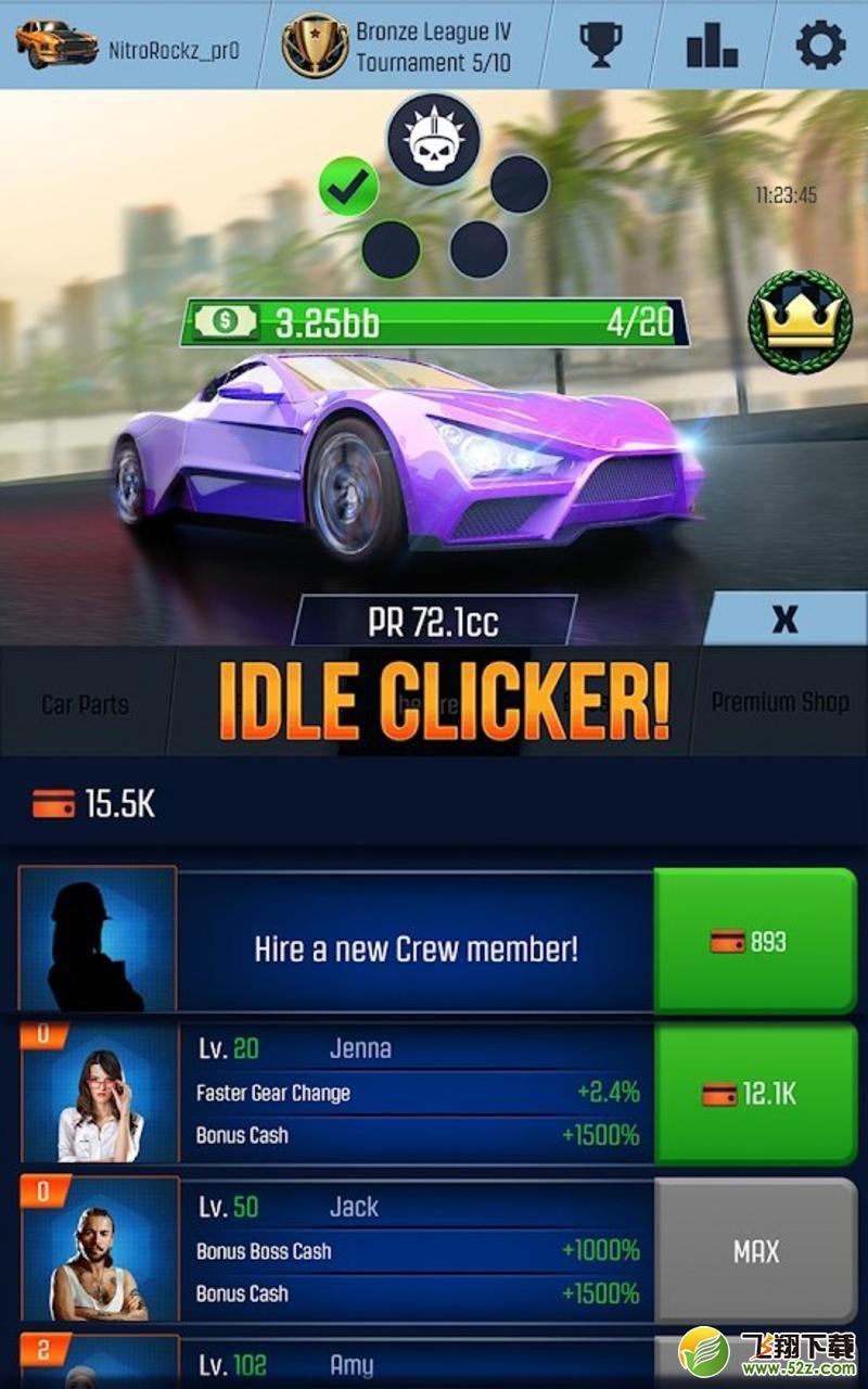 怠速赛车汽车点击模拟器V1.19修改版游戏下载