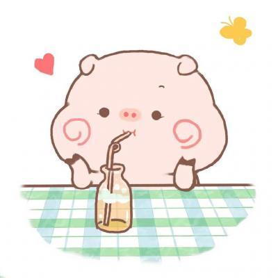 最新超可爱卡通微信头像呆萌小猪 呆萌可爱小猪微信卡通头像图片精选