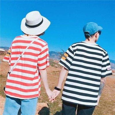 青春校园学生情侣头像合照两张 情侣头像一对两张校园情侣背影图集图片