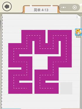 微信快来连方块简单4-13通关图文攻略