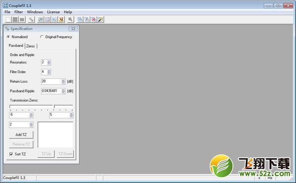 CoupleFil(滤波器耦合矩阵计算器)V1.3 官方版_52z.com