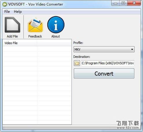 Vov Video Converter(视频格式转换器)V1.6 免费版_52z.com