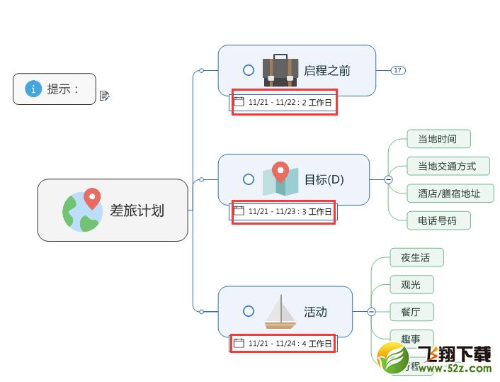 MindManager计划视图的功能详解_52z.com