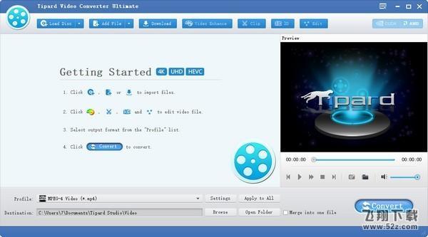 Tipard Video Converter(多功能视频转换器)V9.2.50 免费版_52z.com