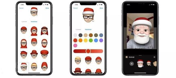 苹果手机Memoji表情装扮圣诞老人头像方法