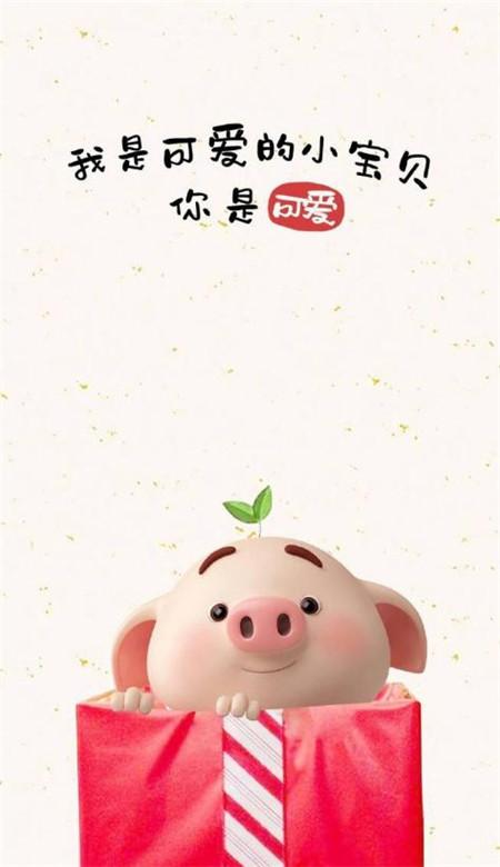2019猪年带字手机壁纸图片可爱大全_52z.com