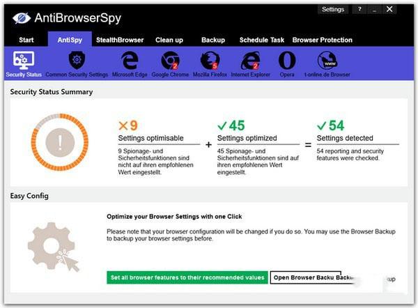 AntiBrowserSpy(系统反间谍软件)V2019.258 官方版_52z.com