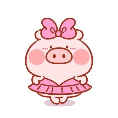 猪年情侣微信头像一人一张 2019最新可爱猪猪情侣头像大全图片
