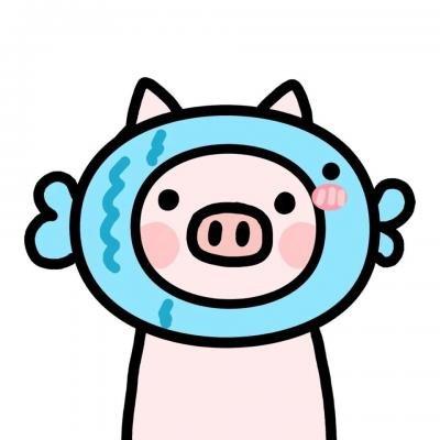 猪年情侣微信头像一人一张 2019最新可爱猪猪情侣头像大全_52z.com