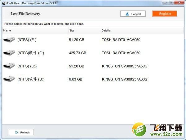 iFinD Photo Recovery(照片恢复软件)V5.9.1 免费版_52z.com