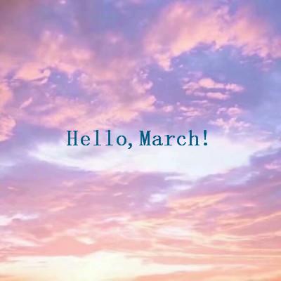 2019三月微信头像唯美英文配字 2月再见2月你好唯美带好运头像图片