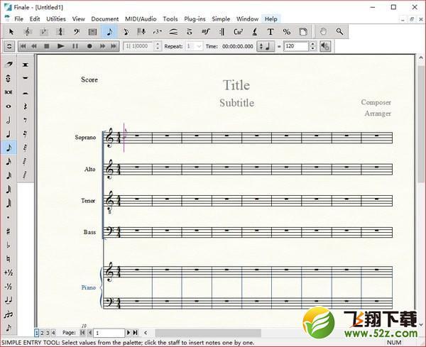 MakeMusic Finale(乐谱软件)V26.0.1.655 免费版_52z.com