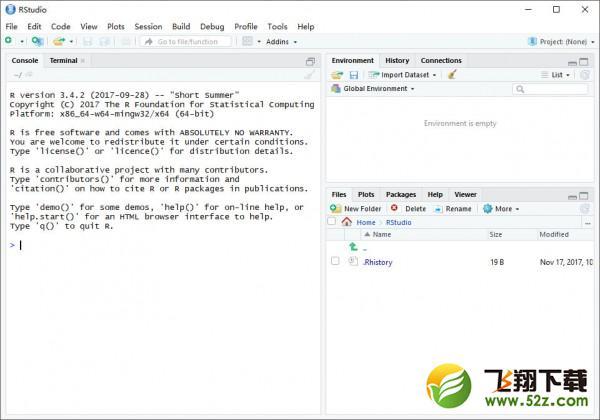 RStudio(R语言数据分析软件)V1.1.383 官方pc版_52z.com