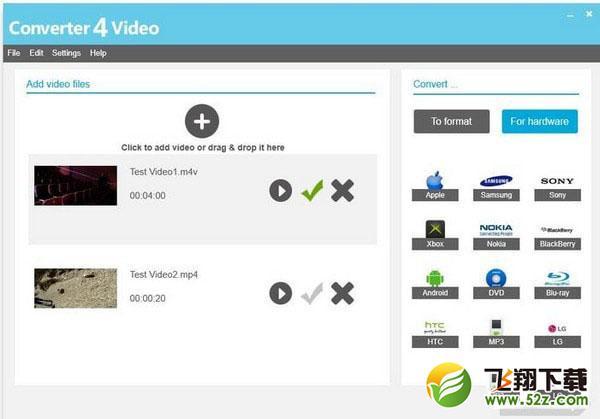 Converter4Video(视频格式转换器)V1.5 官方版_52z.com