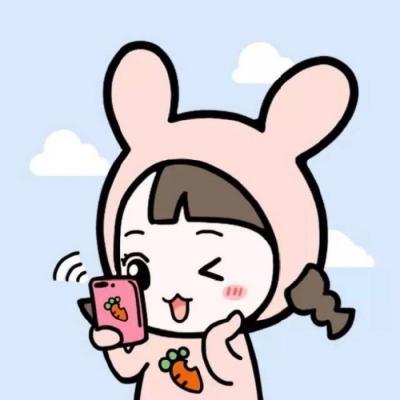 简约可爱的卡情侣头像一男一女 2019精选卡通情侣头像简约可爱