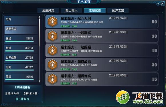 天涯明月刀竹马蹦蹦全成就解锁攻略_52z.com