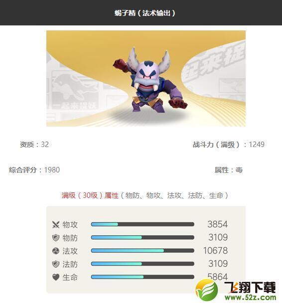 《一起来捉妖》蝎子精妖灵图鉴_52z.com