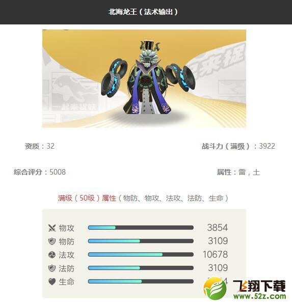 《一起来捉妖》北海龙王妖灵图鉴_52z.com