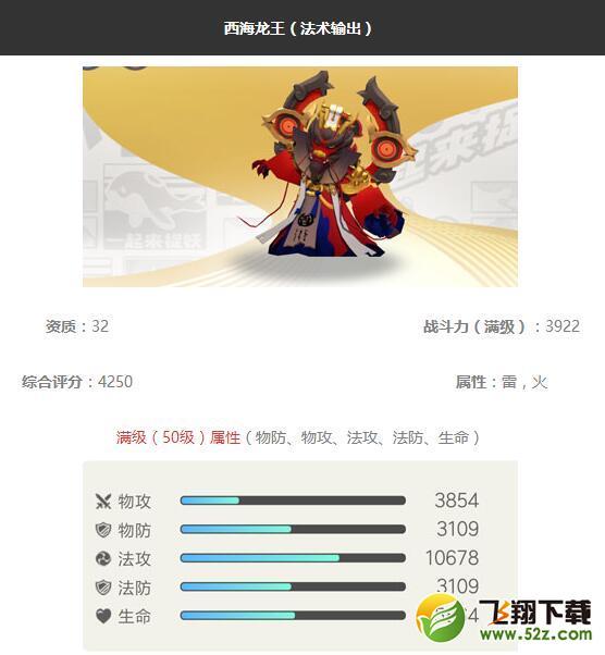 《一起来捉妖》西海龙王妖灵图鉴_52z.com