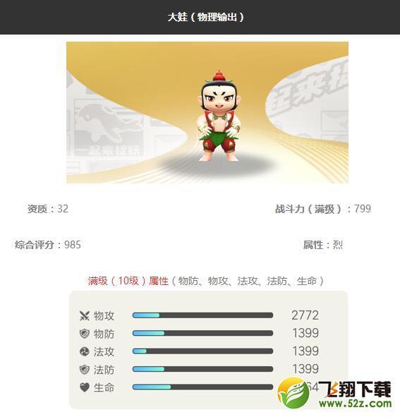 《一起来捉妖》大娃妖灵图鉴_52z.com