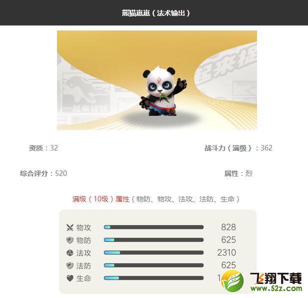 《一起来捉妖》熊猫崽崽妖灵图鉴_52z.com