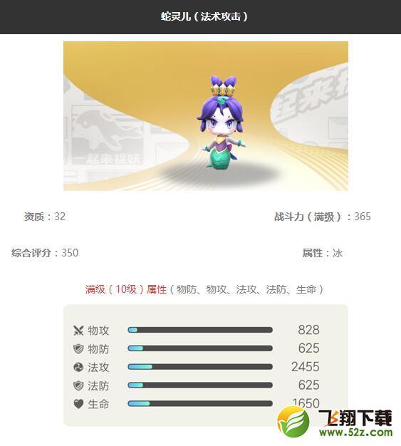 《一起来捉妖》蛇灵儿妖灵图鉴_52z.com