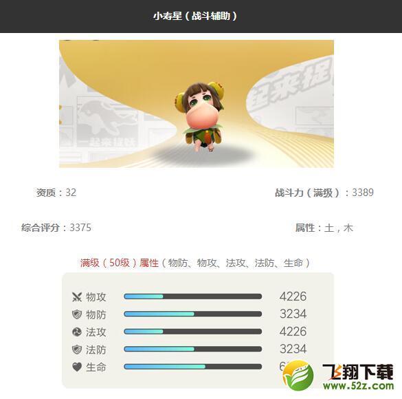 《一起来捉妖》小寿星妖灵图鉴_52z.com