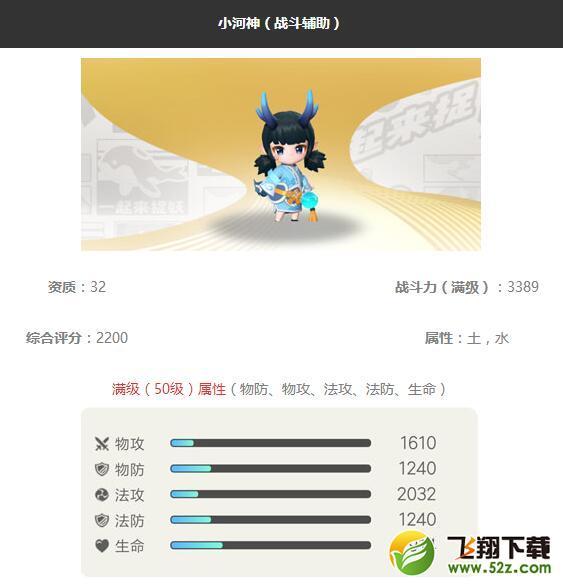 《一起来捉妖》小河神妖灵图鉴_52z.com