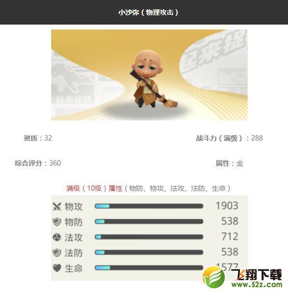 《一起来捉妖》小沙弥妖灵图鉴_52z.com