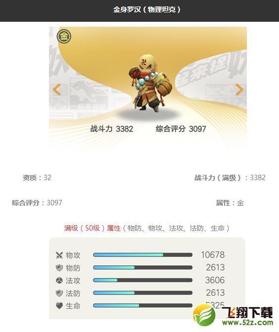《一起来捉妖》金身罗汉妖灵图鉴_52z.com