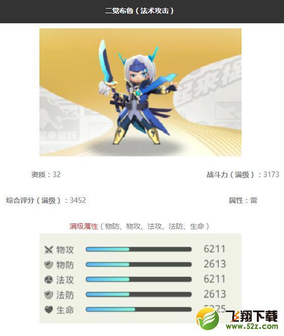 《一起来捉妖》二觉布鲁妖灵图鉴_52z.com