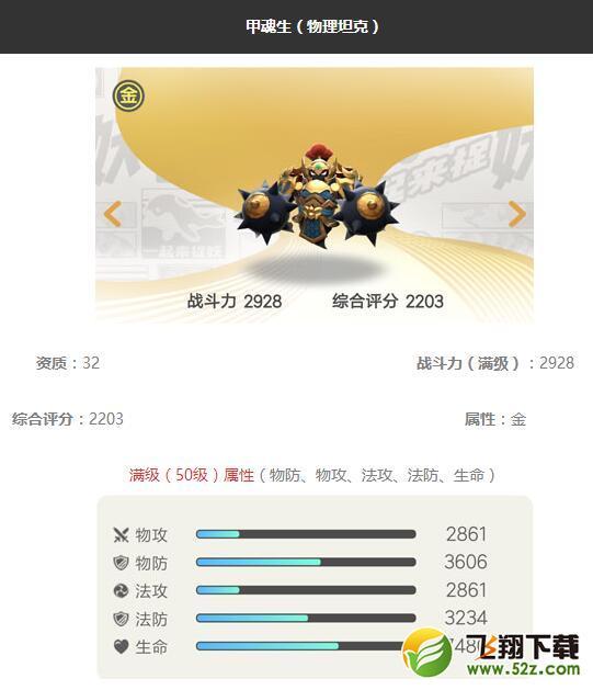 《一起来捉妖》甲魂生妖灵图鉴_52z.com