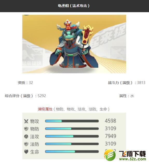 《一起来捉妖》龟丞相妖灵图鉴_52z.com