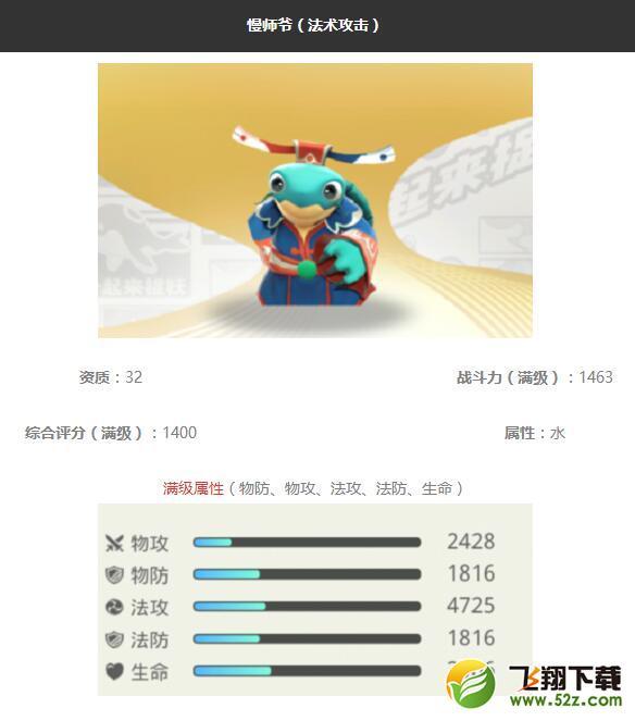 《一起来捉妖》慢师爷妖灵图鉴_52z.com