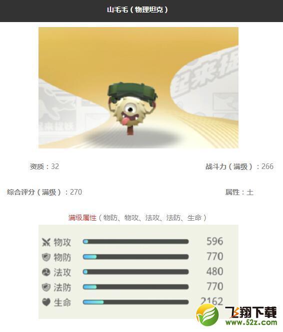 《一起来捉妖》山毛毛妖灵图鉴_52z.com