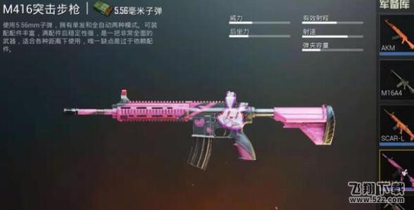 刺激战场M416最好搭配什么配件?